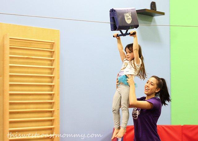 Ziplining at My Gym Langley