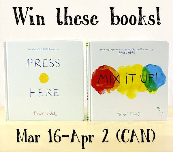 "Win children's books ""Press Here"" & ""Mix It Up!"" (CAN, 4/2)"