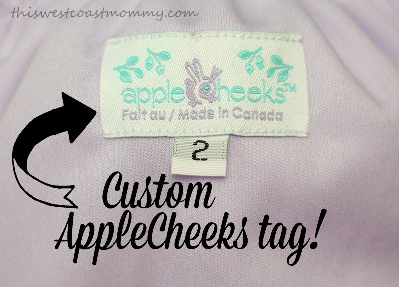 custom bunny AppleCheeks diaper tag