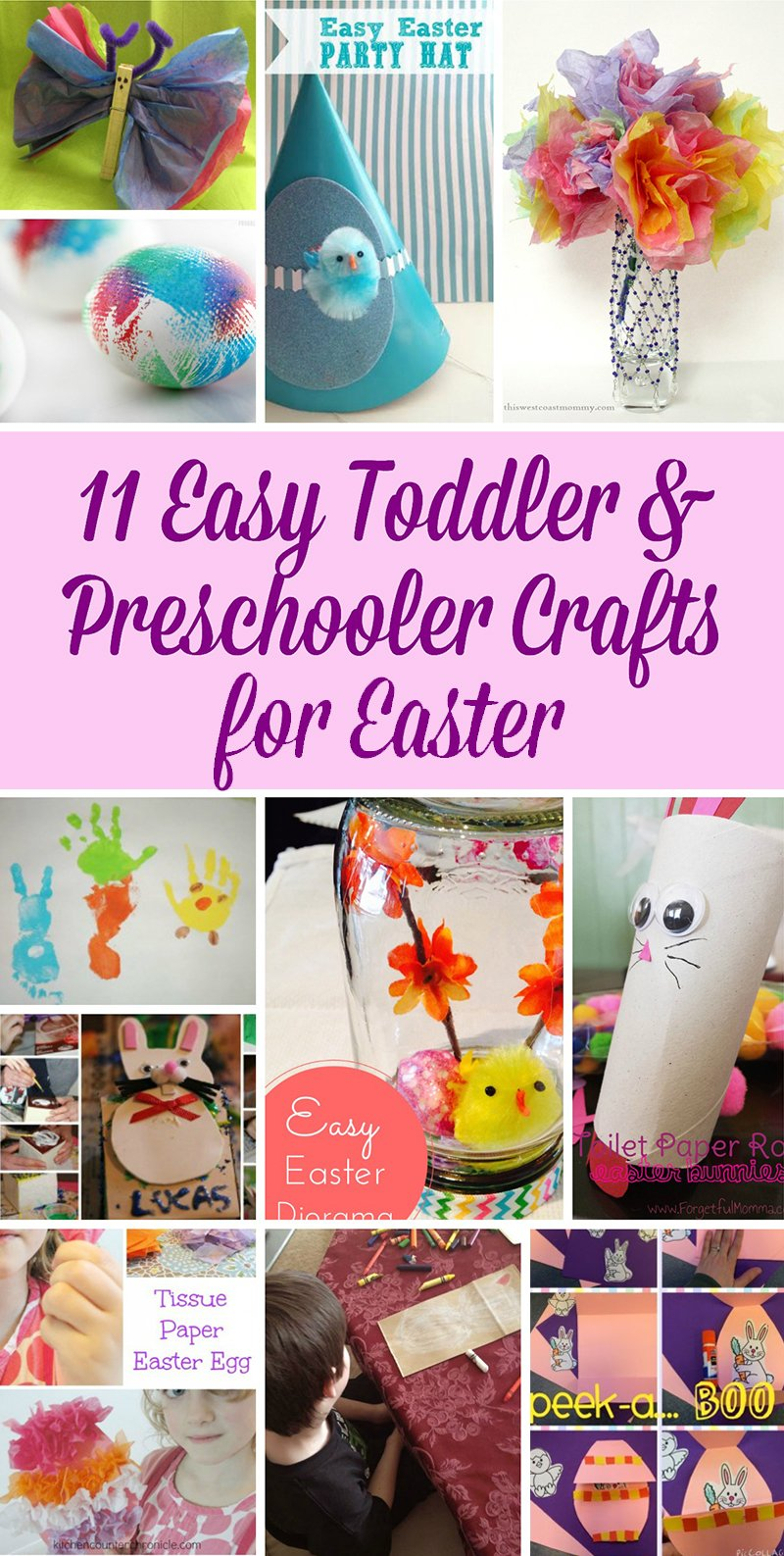 11 Easy Toddler And Preschooler Crafts For Easter This West Coast