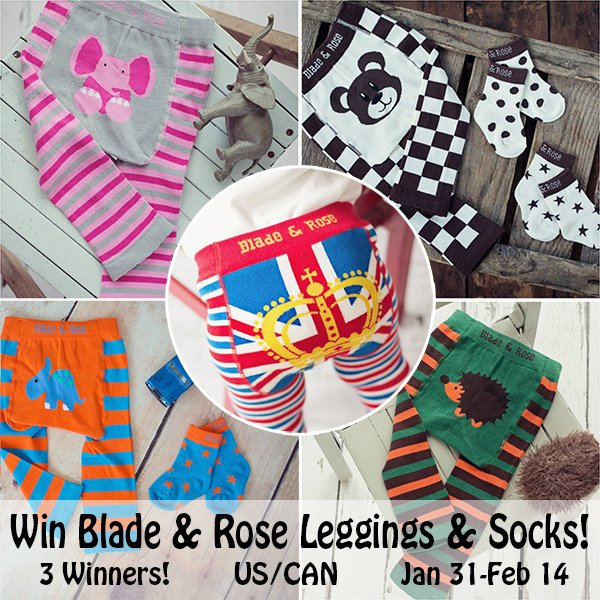 Blade & Rose Leggings & Socks - 3 Winners! (US/CAN, 2/14)