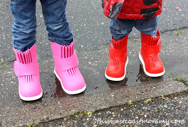 Butler Overboots in Pink Passion and Fire Engine Red