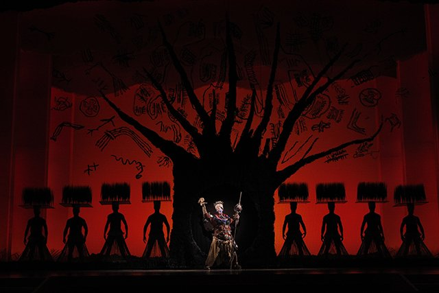 The Tree of Life from THE LION KING National Tour. ©Disney. Photo Credit: Joan Marcus.