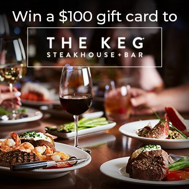 $100 Gift Card to the Keg (CAN, 12/14)
