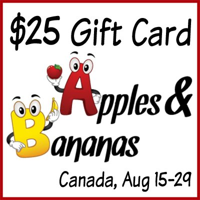 Win a $25 Gift Card to Apples & Bananas (CAN, 8/29)
