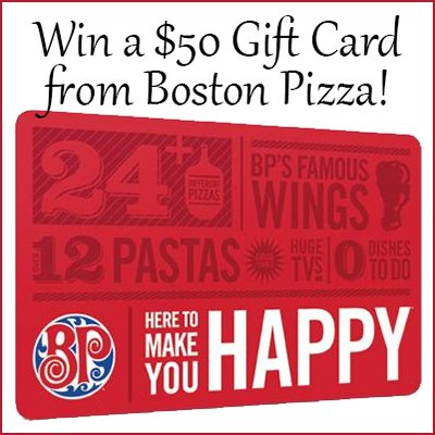 Win a $50 Boston Pizza Gift Card (CAN, 3/1)