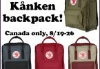 Check Your Back to School List and Win a Kånken Backpack! #FjallravenCanada {Closed}