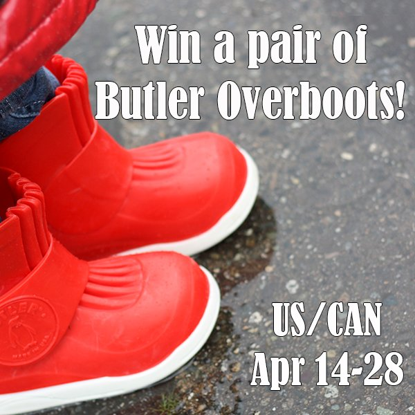 Win a pair of Butler Overboots (US/CAN, 4/28)