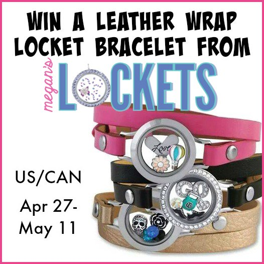 Win an Origami Owl leather wrap locket bracelet (US/CAN, May 11)