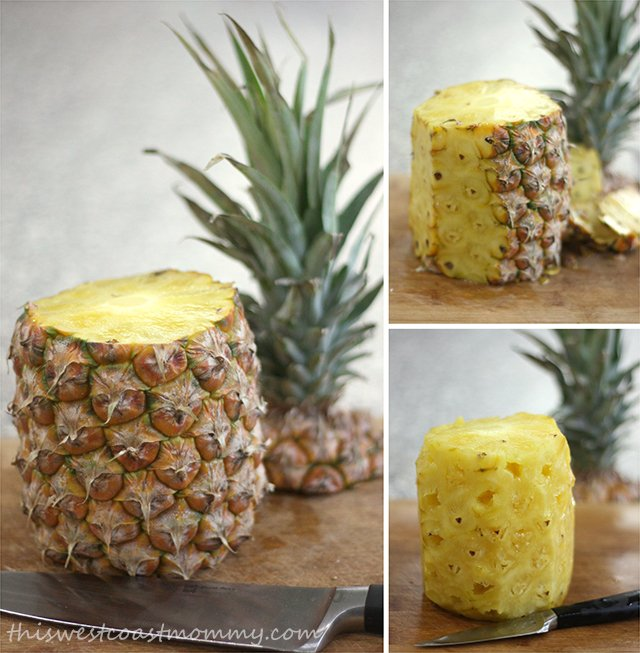 How to peel a pineapple in 3 simple steps.