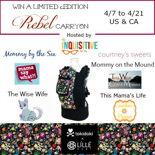 Win a limited edition lillebaby Tokidoki CarryOn Baby Carrier! (US/CAN, 4/21)