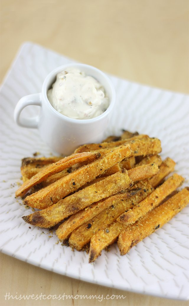 Sweet potato fries and Epicure dip