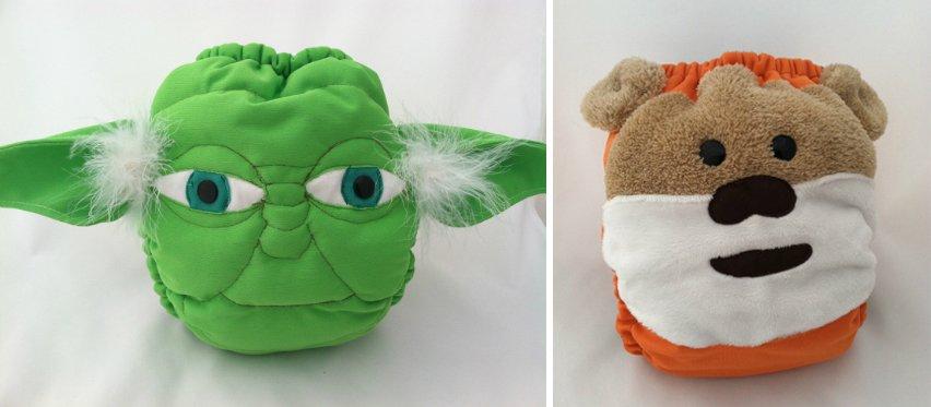 Yoda and Ewok diapers - Bunzuke Diapers