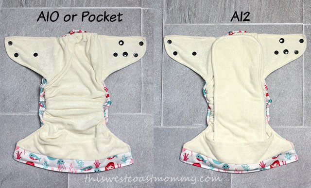 Nuggles Simplee Hybrid Diaper can be used as an AIO, Pocket, or AI2