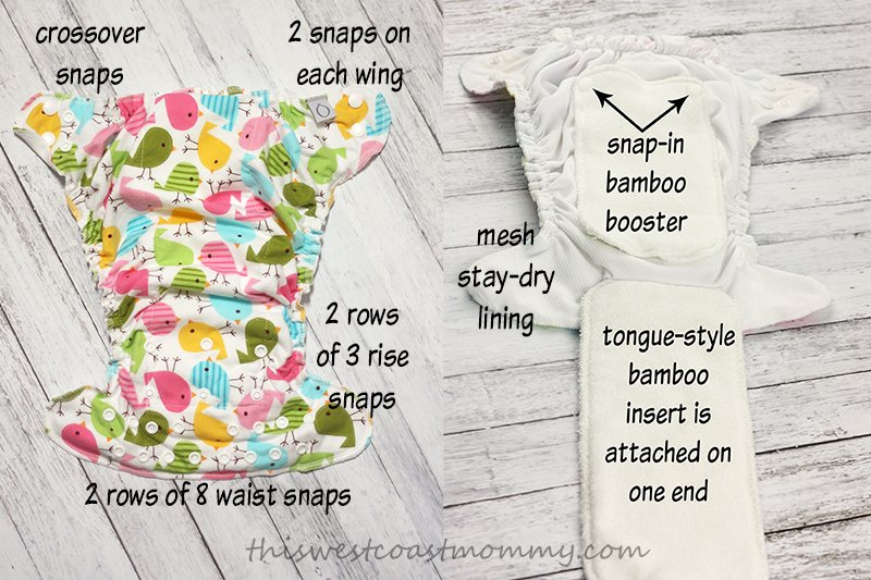 Omaïki's Ö Sleep Bamboo Fitted Diaper