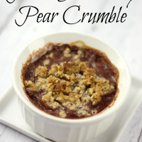 Pin this Paleo Strawberry Pear Crumble