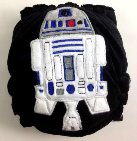 R2-D2 hybrid fitted diaper - Maplebean Diapers