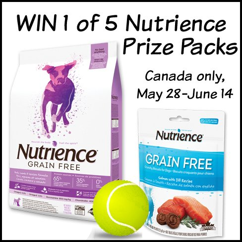 Win 1 of 5 Nutrience Grain Free Dog Food Prize Packs (CAN, 6/14)