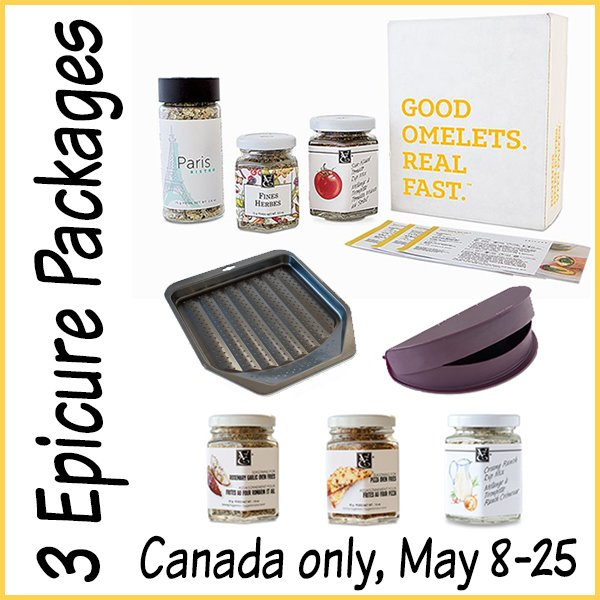 Win 1 of 3 Epicure Prize Packages (CAN only, 5/25)