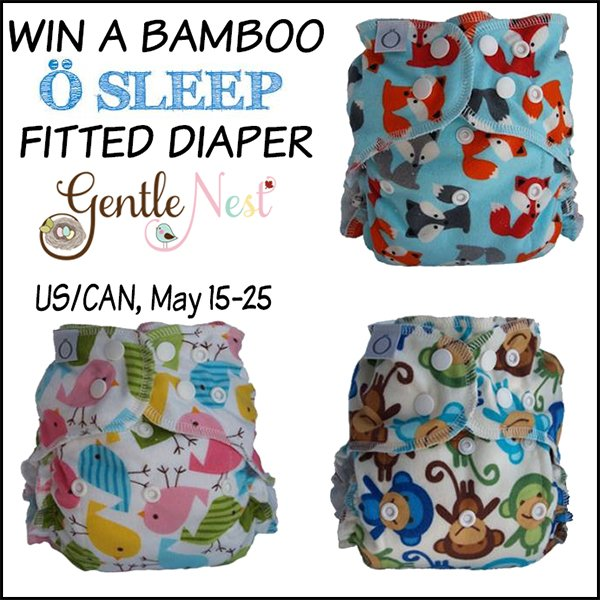 Win an Omaïki Ö Sleep bamboo fitted cloth diaper (US/CAN, 5/25)