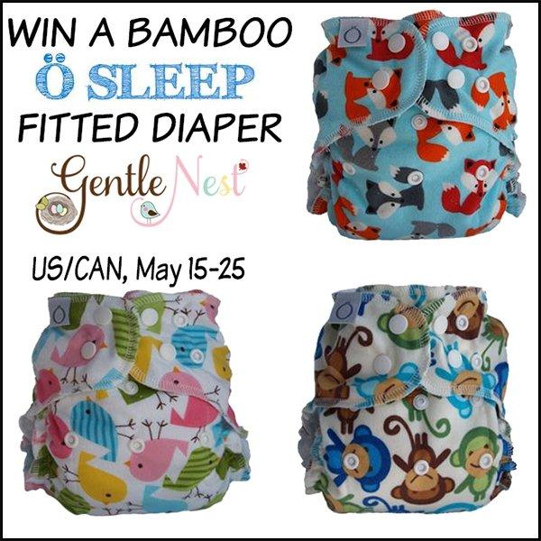 Win an Omaïki Ö Sleep bamboo fitted cloth diaper (US/CAN, 5/25)
