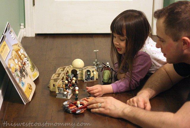 playing LEGO Star Wars Cantina