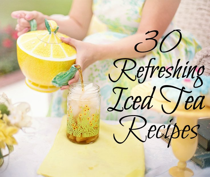 Discover 30 delicious iced tea recipes perfect to beat the heat this summer! Black teas, green teas, herbal teas, milky teas, and tea cocktails.