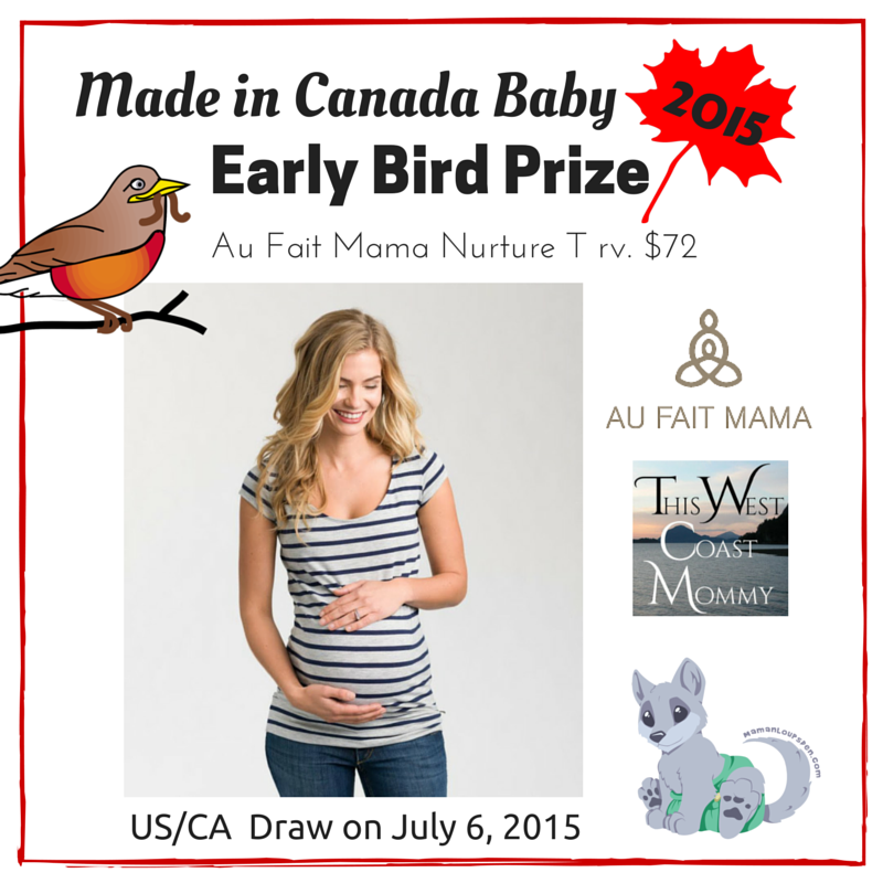 Made in Canada Baby Early Bird Prize - Win $1550 in Prizes in the Made in Canada Baby Giveaway - 10 Winners! (CAN/US, 7/13)