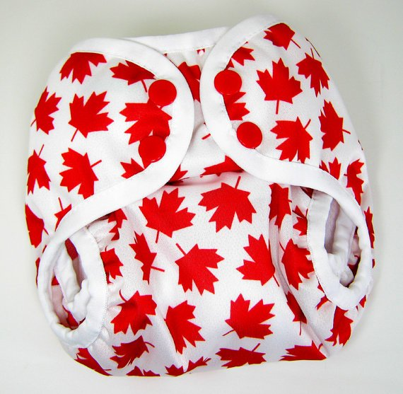 Maple Leaf Diaper Cover - SwaddleinCloth