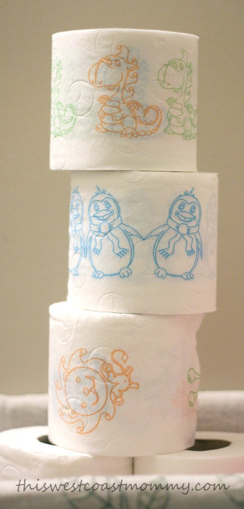 5 tools to help your reluctant toddler potty train for Design your own toilet paper