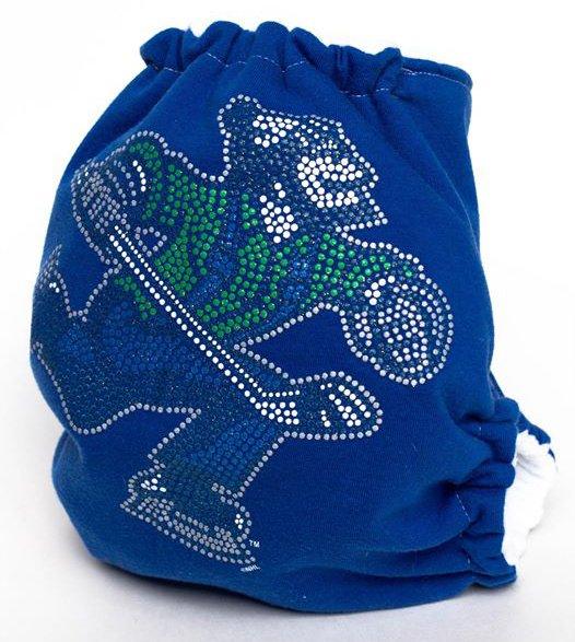 Upcycled Johnny Canuck pocket diaper - Keizer Buns