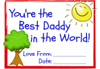 World's Best Dad! 3 Free Printable Certificates for Father's Day