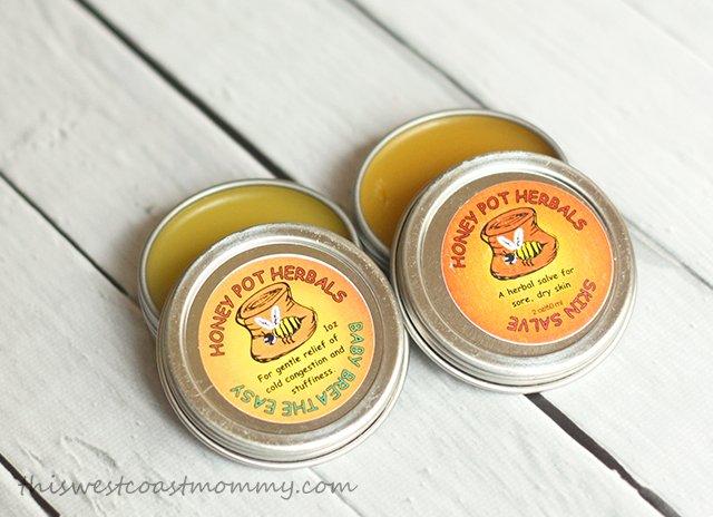 Honey Pot Herbals' Baby Breathe Easy Salve and Skin Salve