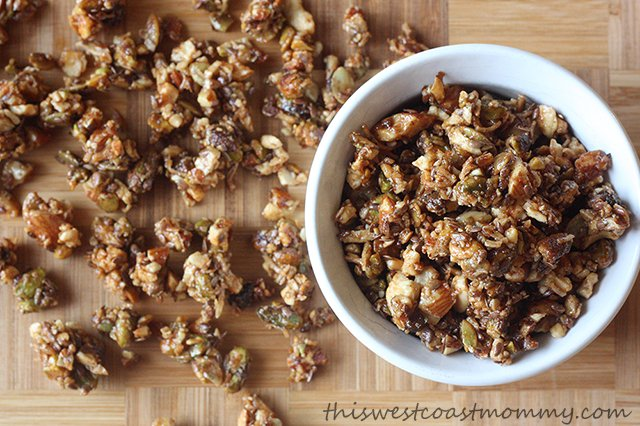 Homemade gluten-free, grain-free, paleo-friendly granola. Delicious and nutritious!