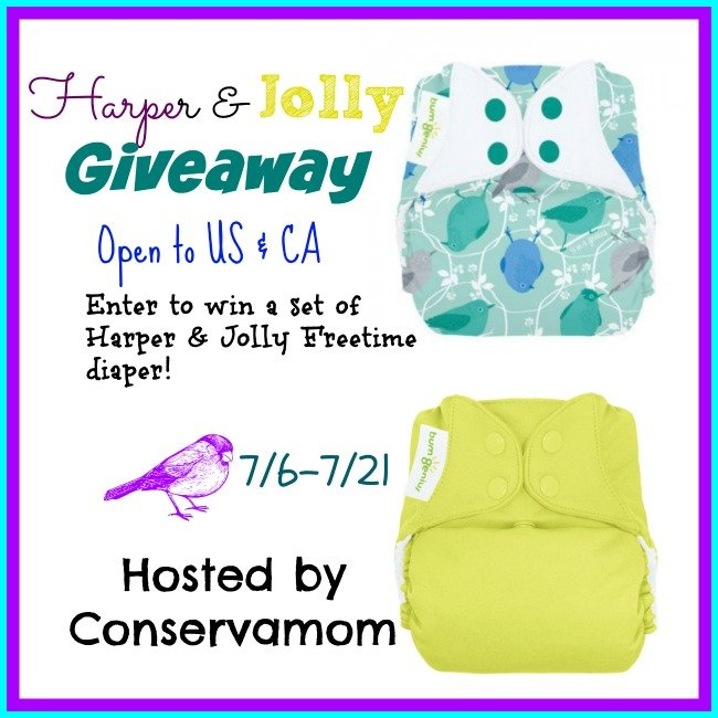 Win Harper & Jolly Freetime Cloth Diapers (US/CAN, 7/21)