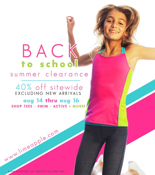 Limeapple Back to School Sale