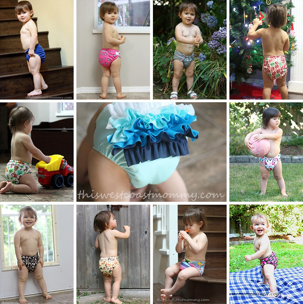 Reusable cloth diapers are a much more economical option than disposables - plus they're so much cuter!