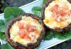 Tomato, Artichoke, and Asiago Stuffed Portobello Mushroom Recipe