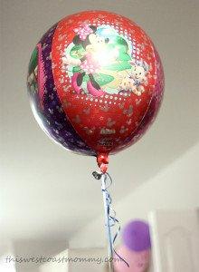 Orbz foil balloons look like floating beach balls!