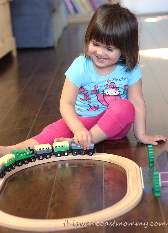 Wooden trains are fun!