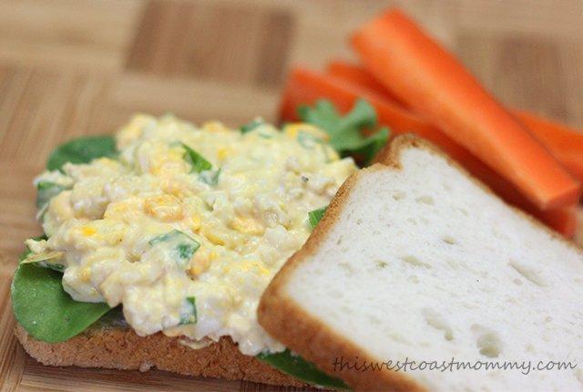 Artichoke & Asiago Egg Salad Sandwich..