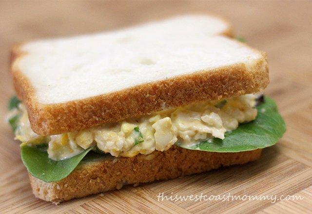 Artichoke Asiago Egg Salad Sandwich