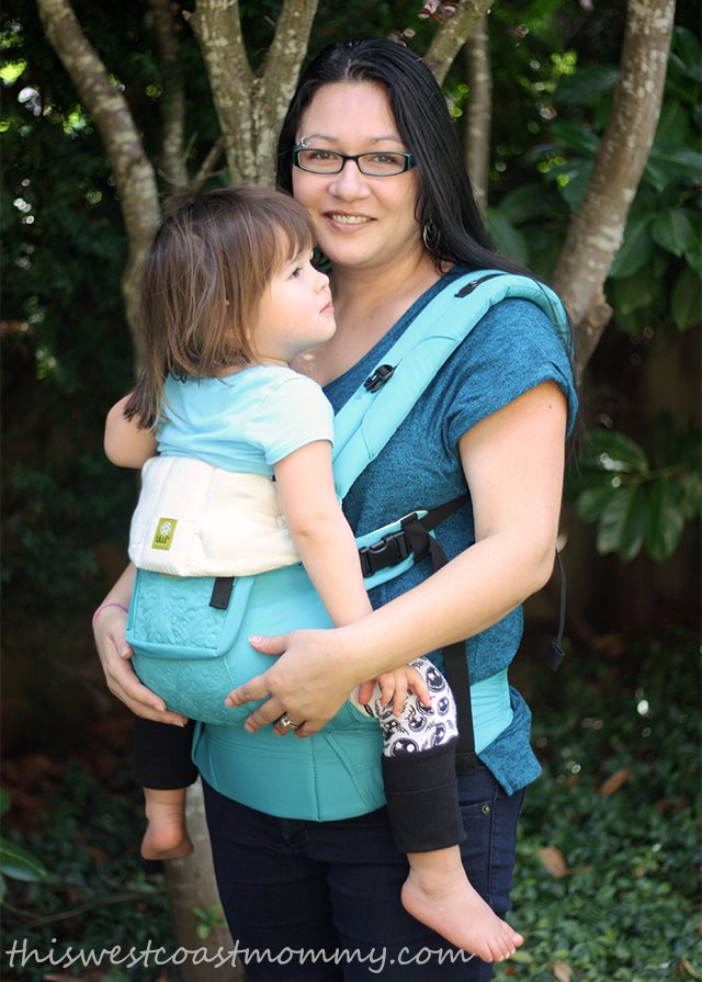 LILLEbaby front inward carry