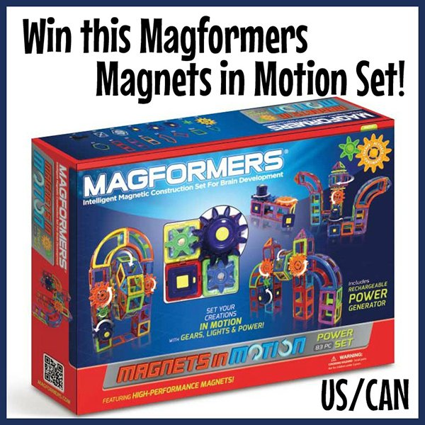 Win a Magformers Magnets in Motion Set (US/CAN, 11/29)