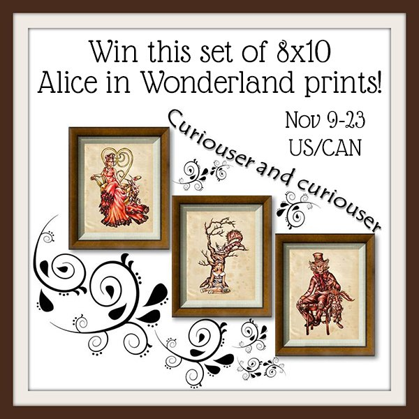 Win a set of 3 Alice in Wonderland prints