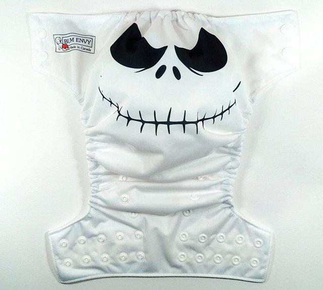 Jack Skellington OS pocket diaper from Bum Envy