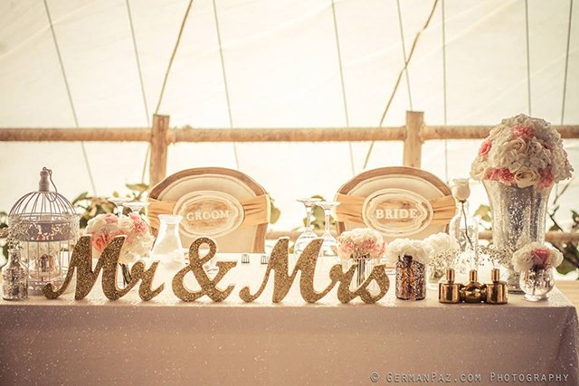 Ideas For Head Table At Wedding wedding head table design ideas Mark The Head Table With A Beautiful Handcrafted Mr Mrs Table Sign