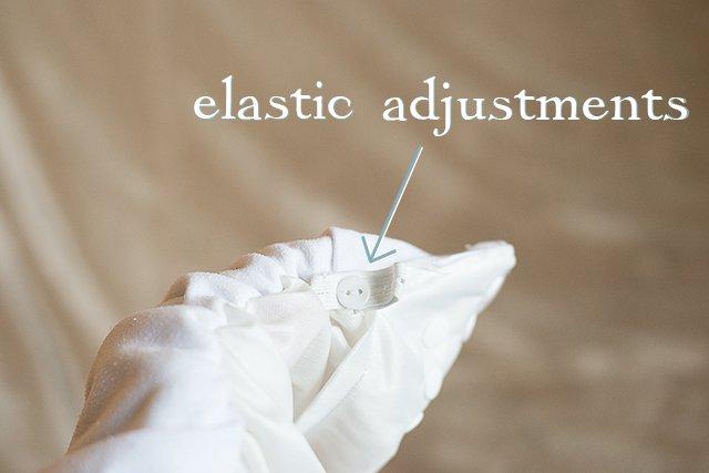 Fuzzibunz elastic adjustments