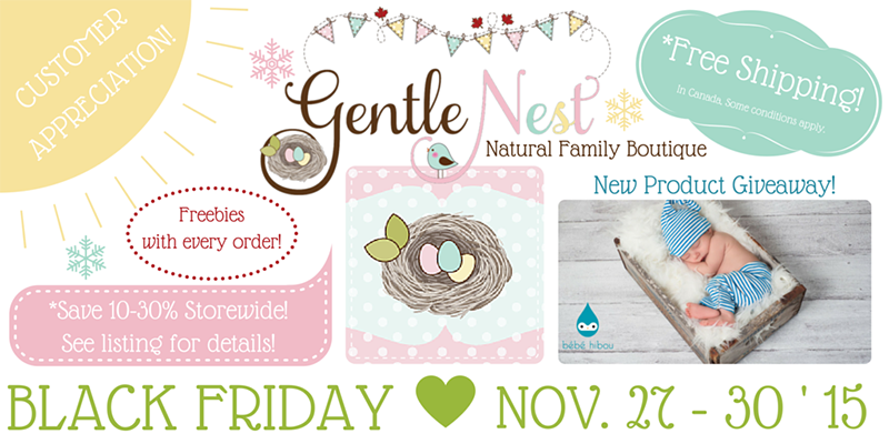 Gentle Nest Black Friday feature listing