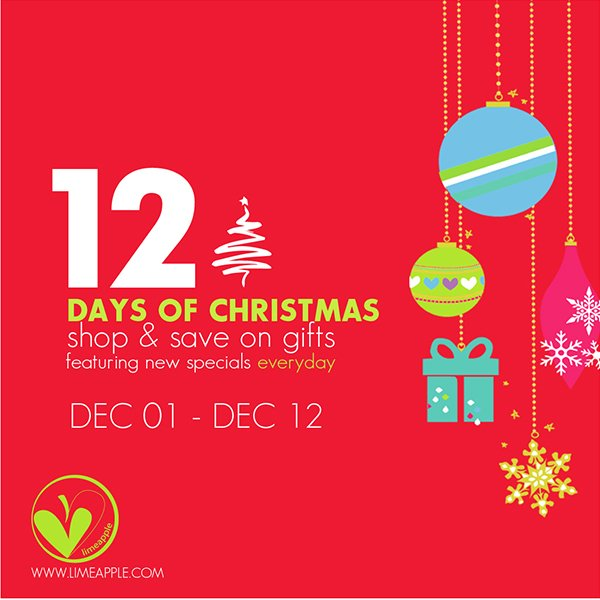 Gift Guide Picks at Limeapple and The 12 Days of Christmas Sale ...